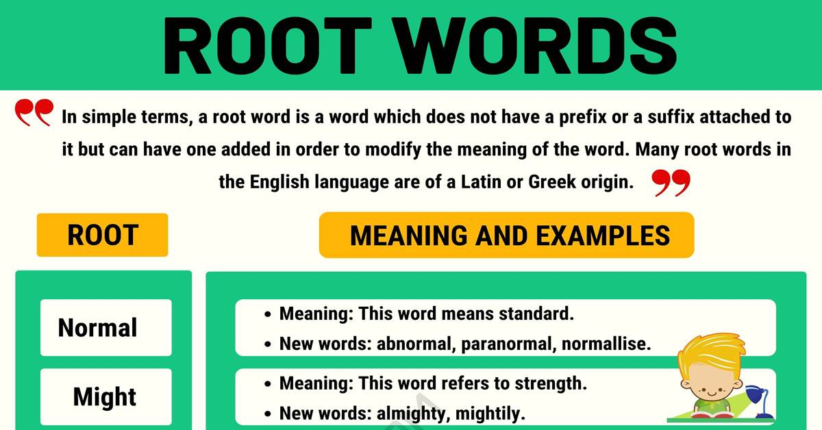 Root Words: Definition and List of Root Words with Meanings 1