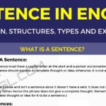 Sentence: Definition, Structures, Types and Useful Examples