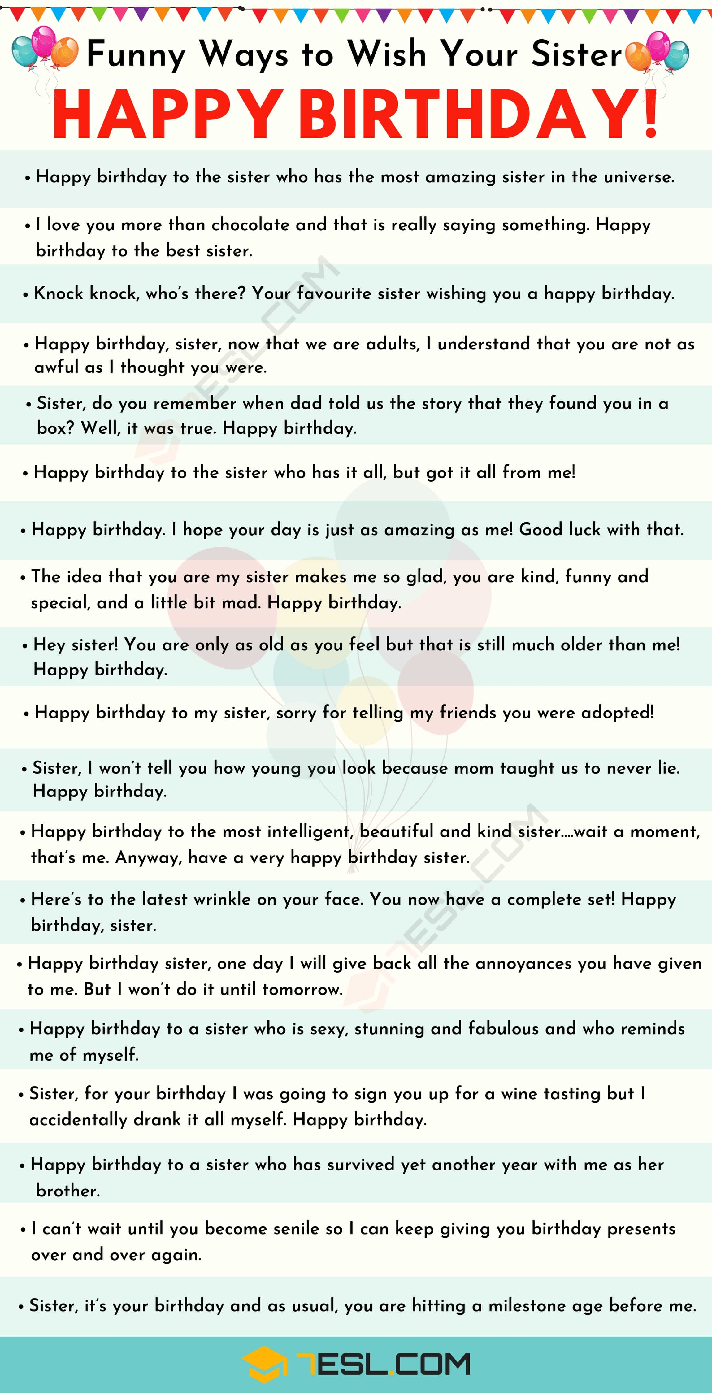 Happy Birthday Sister: 40+ Creative Birthday Wishes for Sister