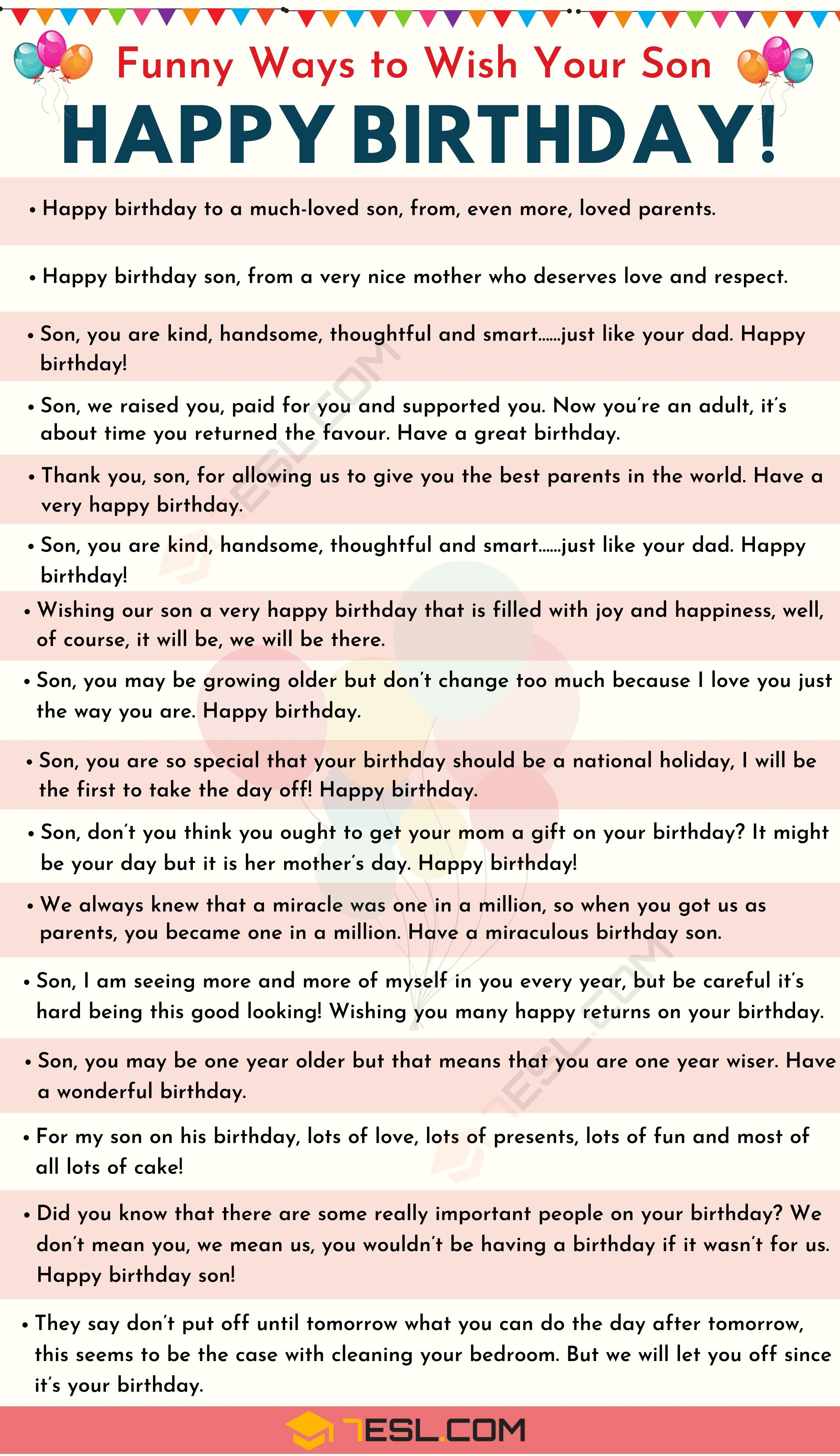 Happy Birthday Son: 35+ Meaningful and Funny Birthday Wishes for Son