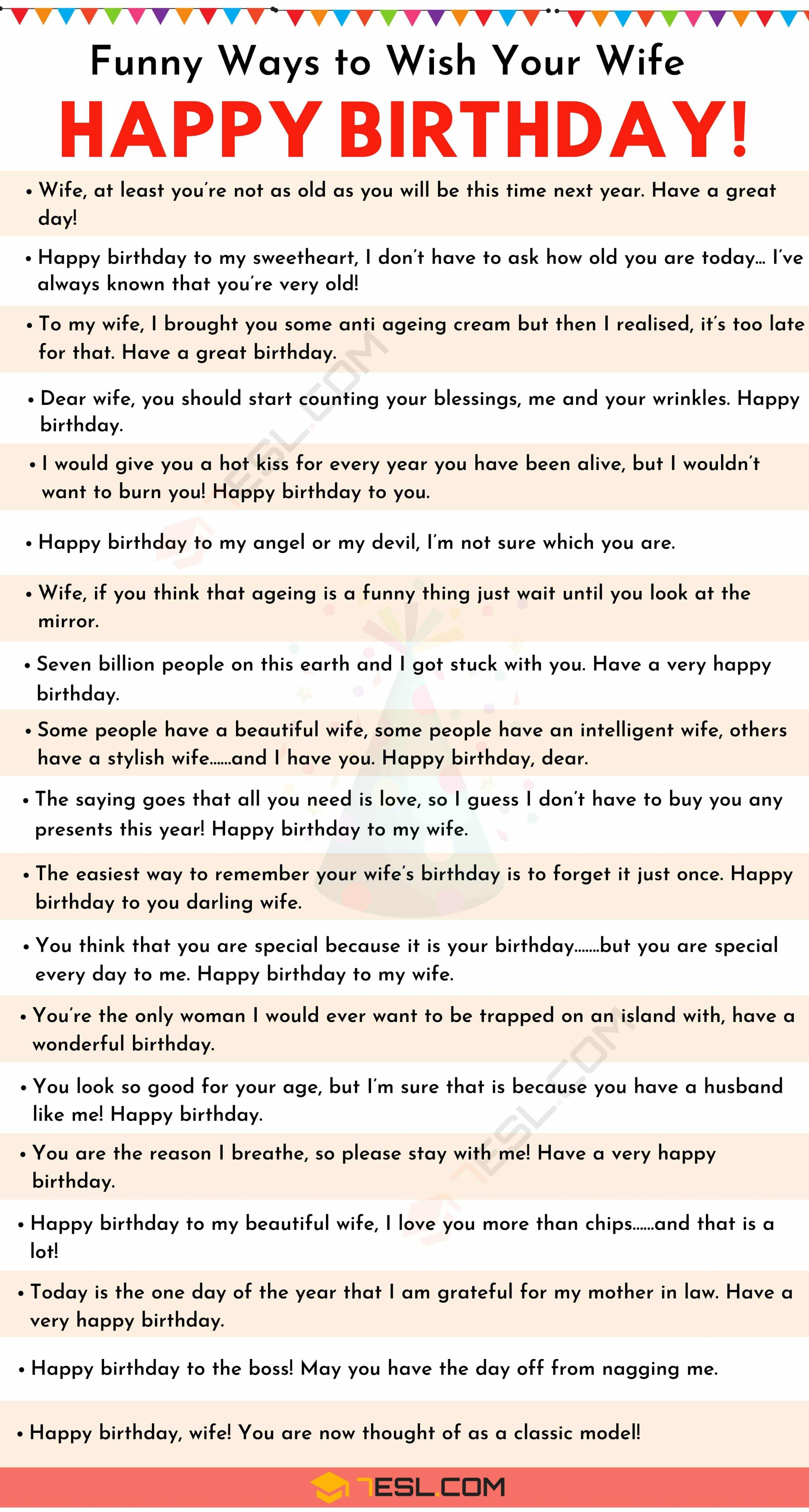 Happy Birthday Wife: 35+ Sweet and Funny Birthday Wishes for Wife