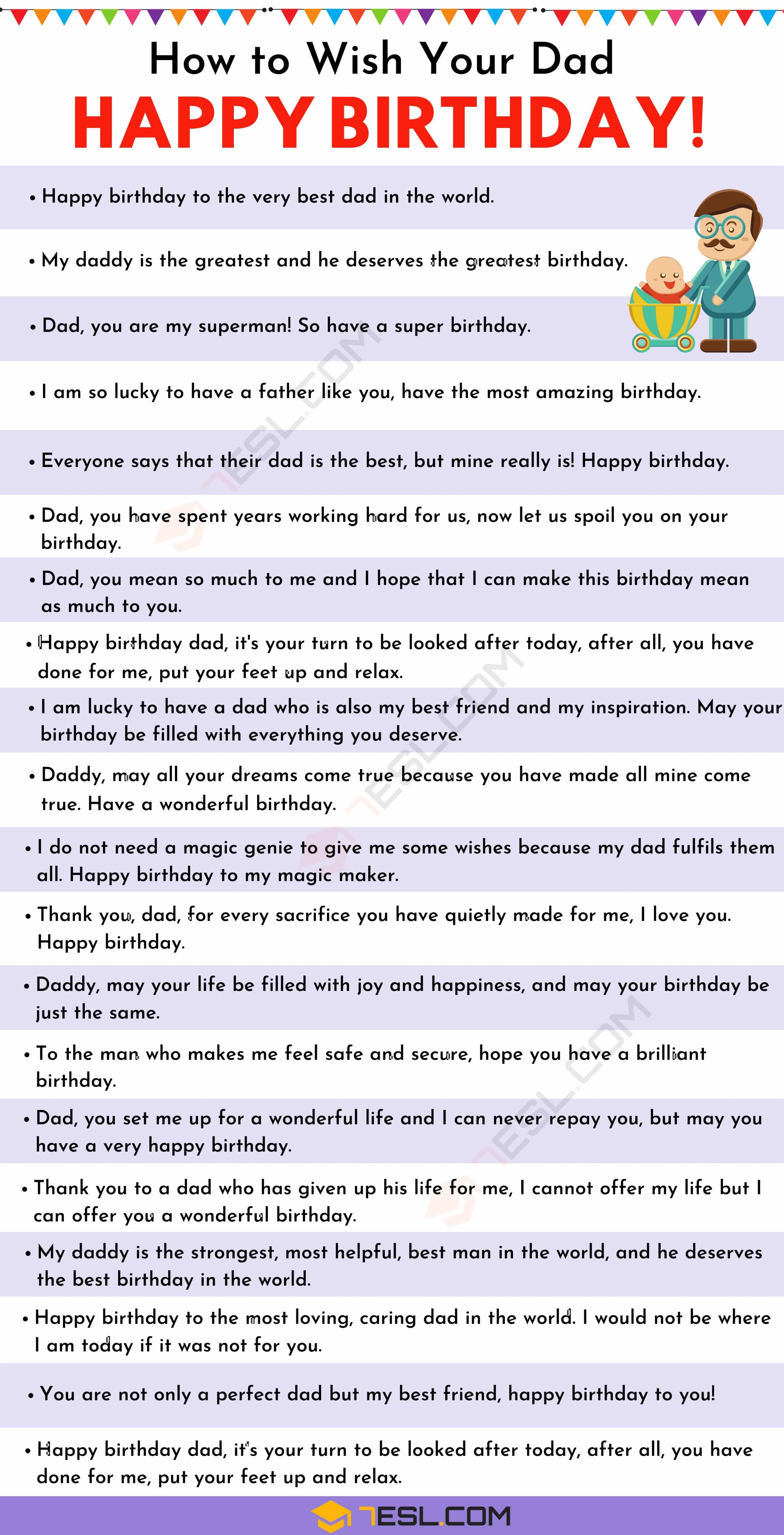 Happy Birthday Dad: 35+ Wonderful Birthday Wishes for Dad