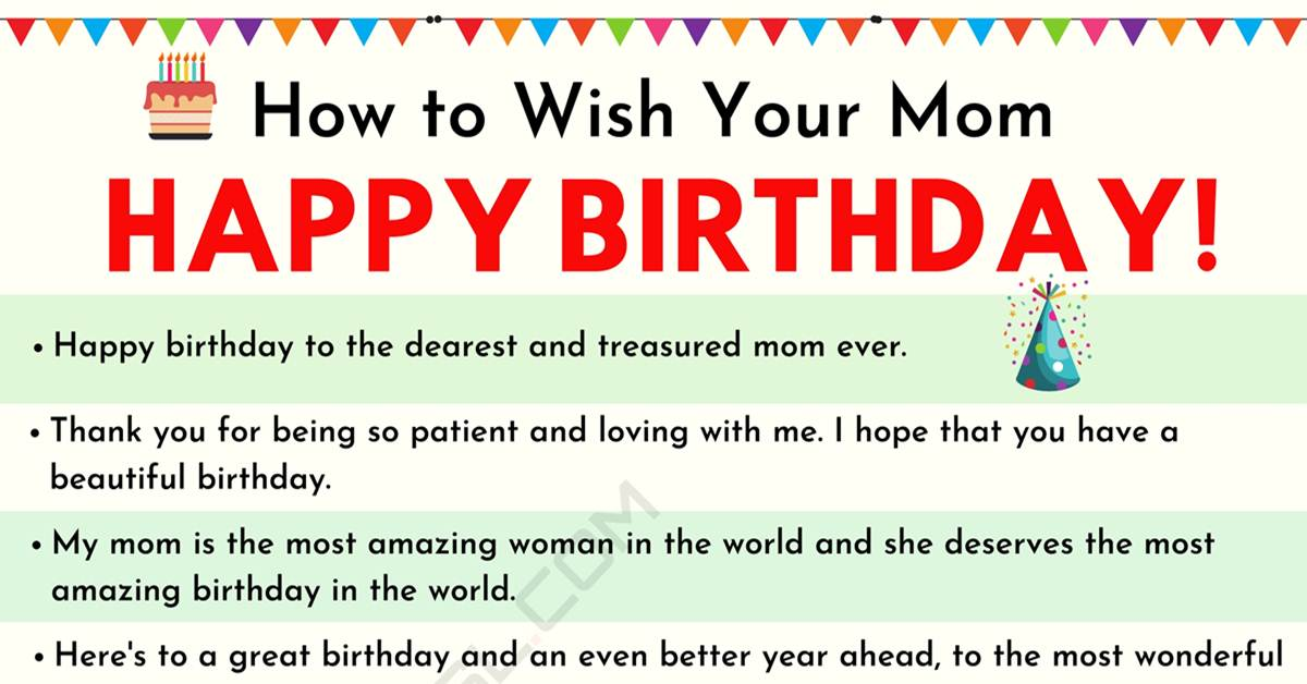 Pleasant Happy Birthday Mom 35 Sweet And Funny Birthday Wishes For Mom Personalised Birthday Cards Paralily Jamesorg