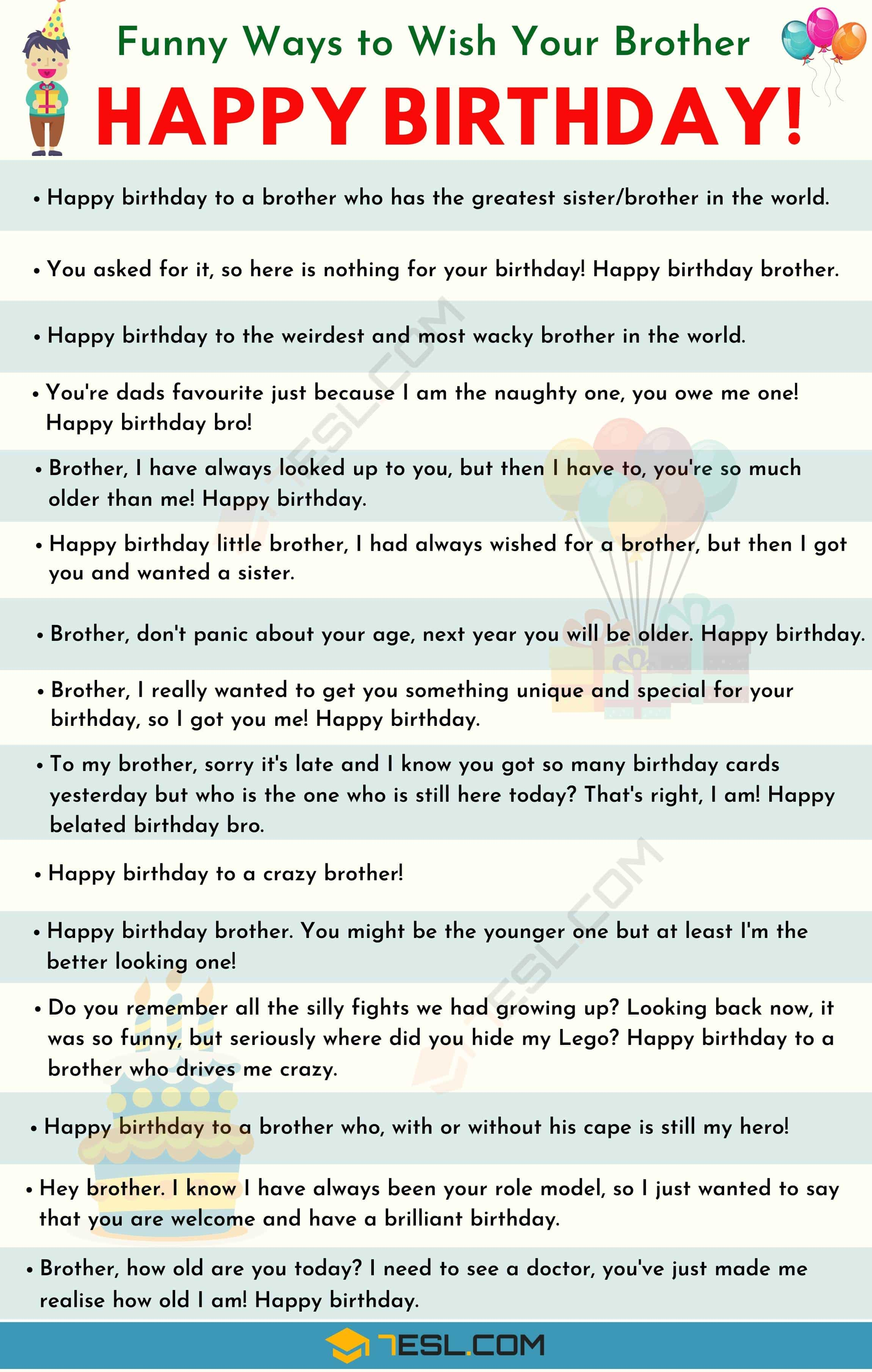 Happy Birthday Brother: 35+ Best and Funniest Birthday Wishes For Brother