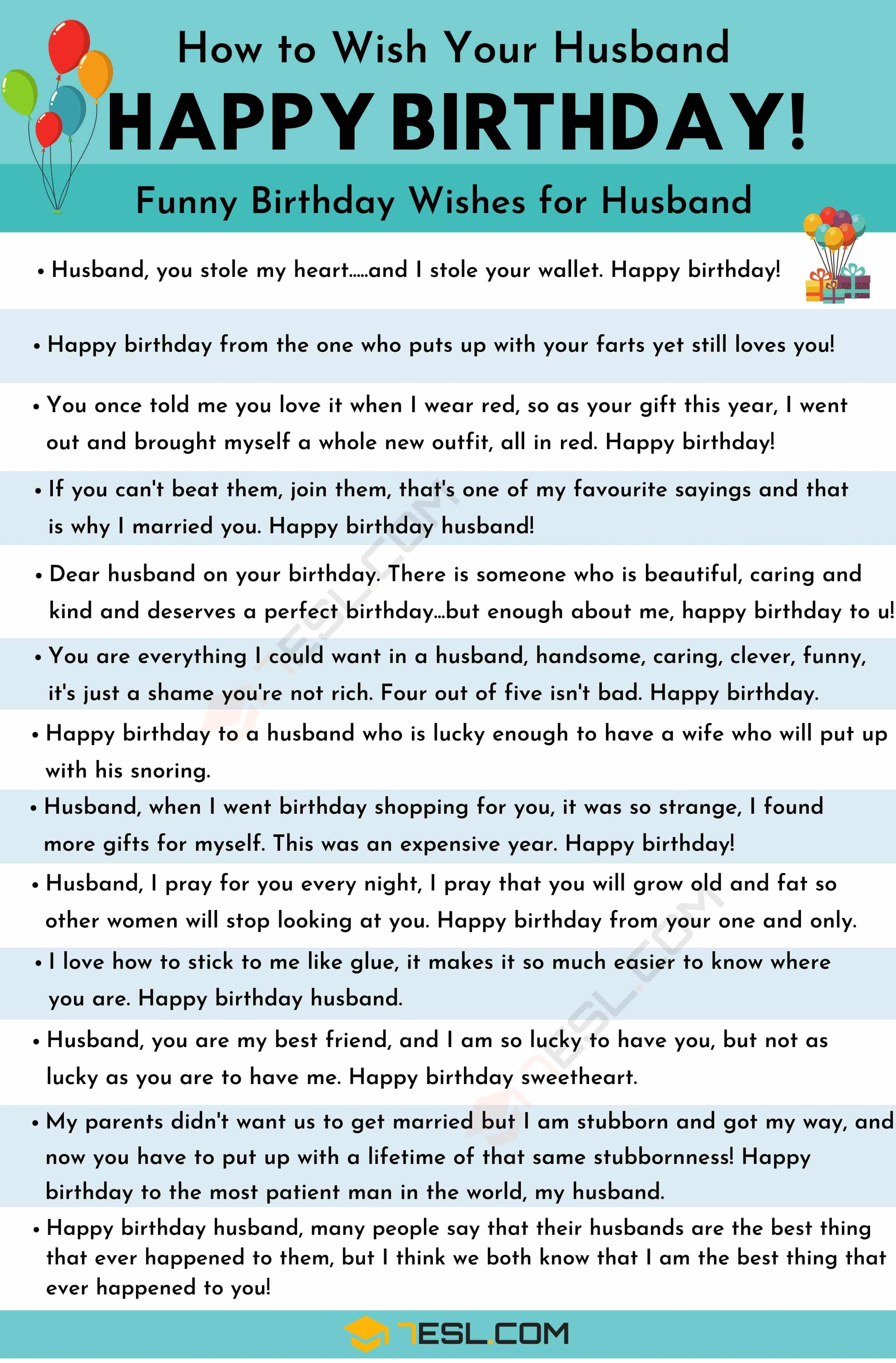 Happy Birthday Husband: 30+ Best Birthday Wishes for Your Husband