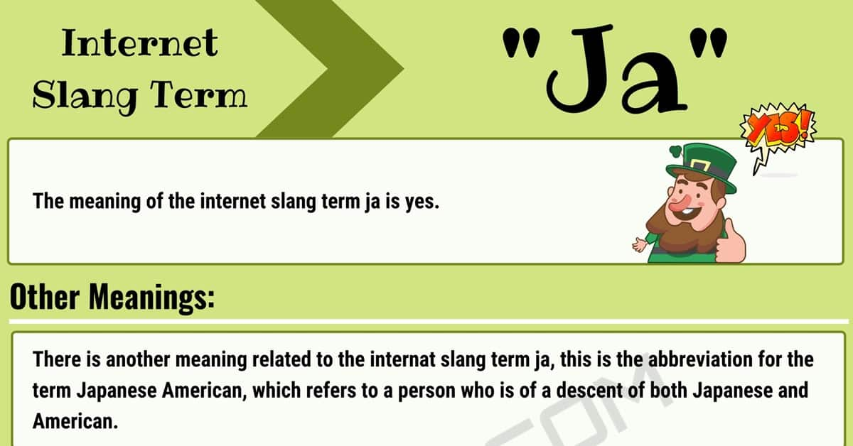 """Ja Meaning: What Does """"Ja"""" Mean In Texting with Useful Examples? 1"""