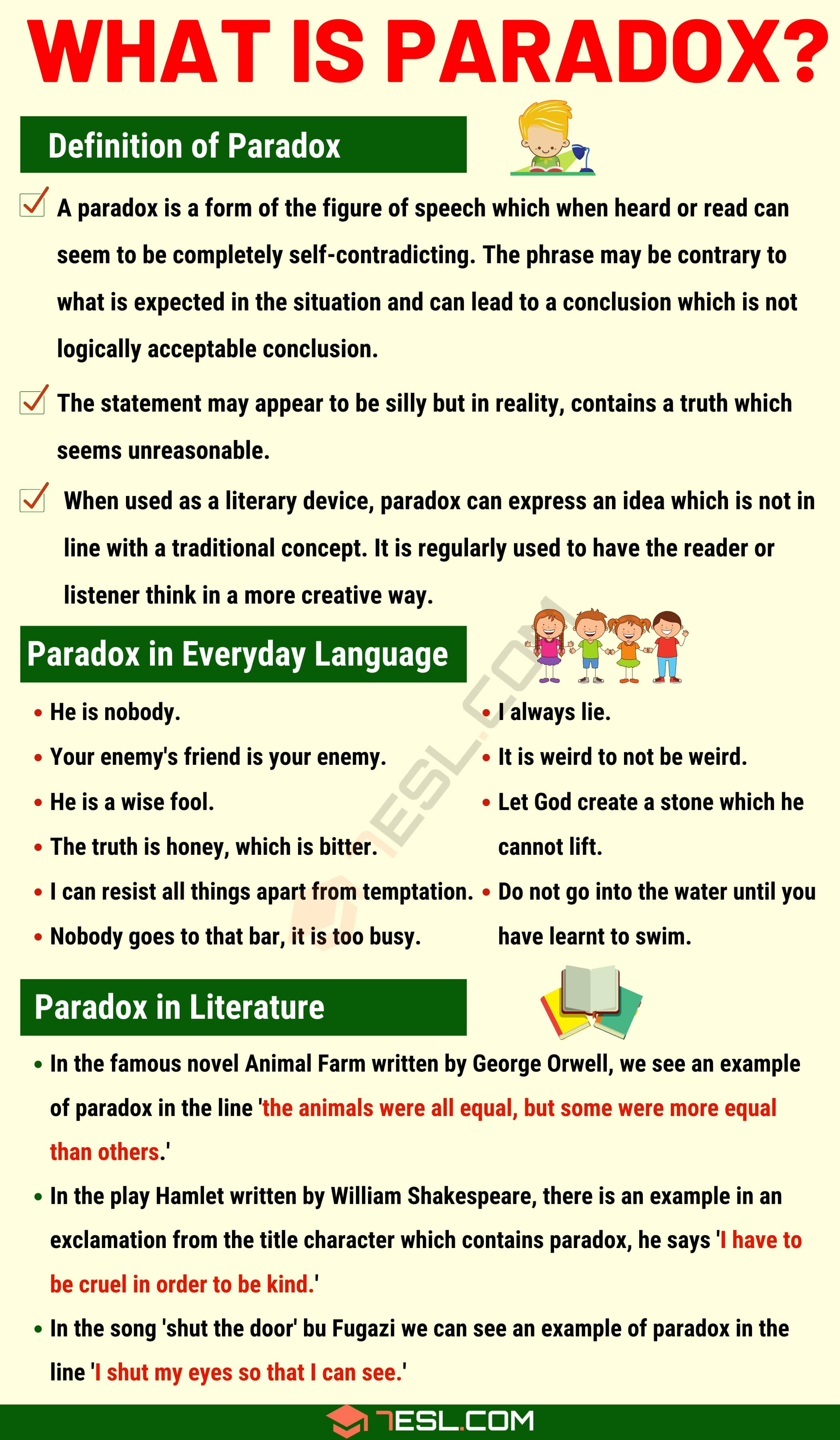 Paradox: Definition with Useful Examples of Paradox in Speech & Literature
