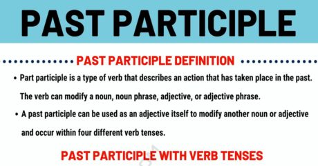 Past Participle: Definition, Forming Rules and Useful Examples