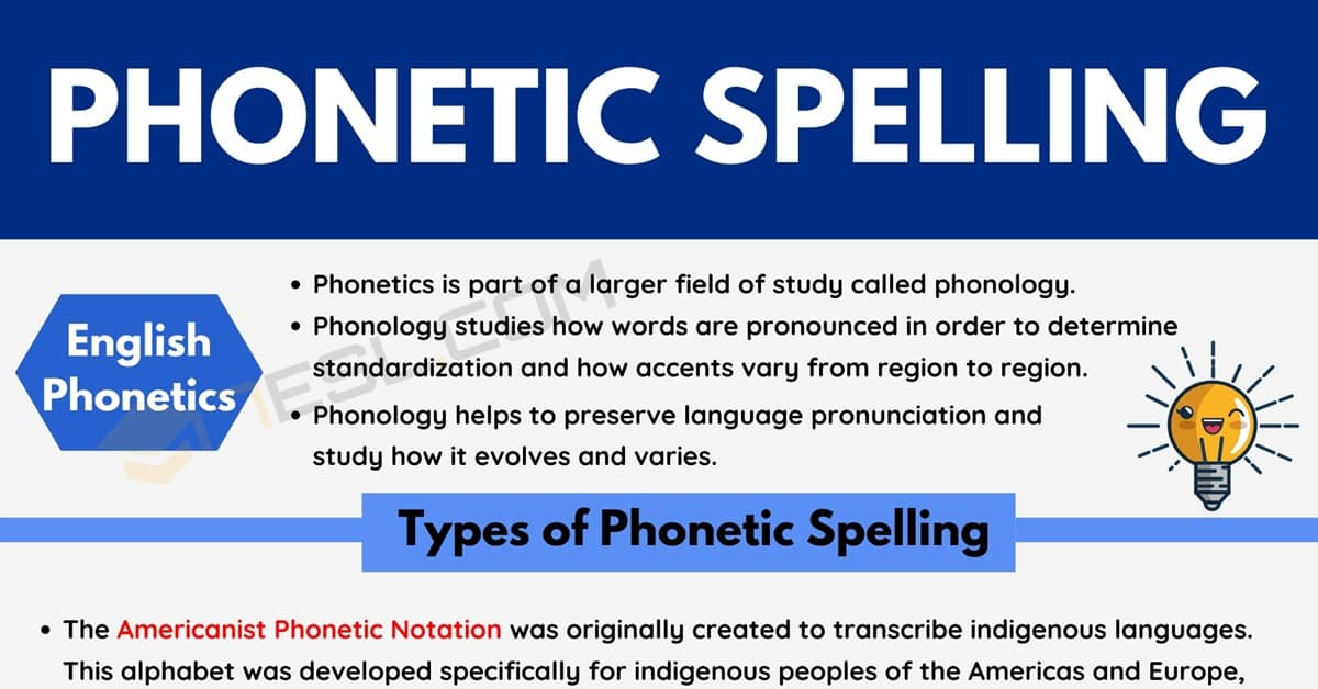 Phonetic Spelling: Types and Uses of Phonetic Spelling in English 1