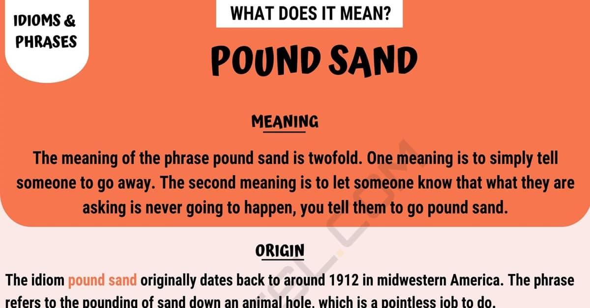 Pound Sand
