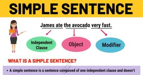 Simple Sentence: Examples and Definition of Simple Sentences