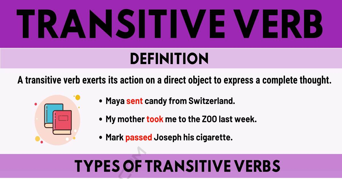 Transitive Verb: Definition, Types of Transitive Verbs with Useful Examples 1