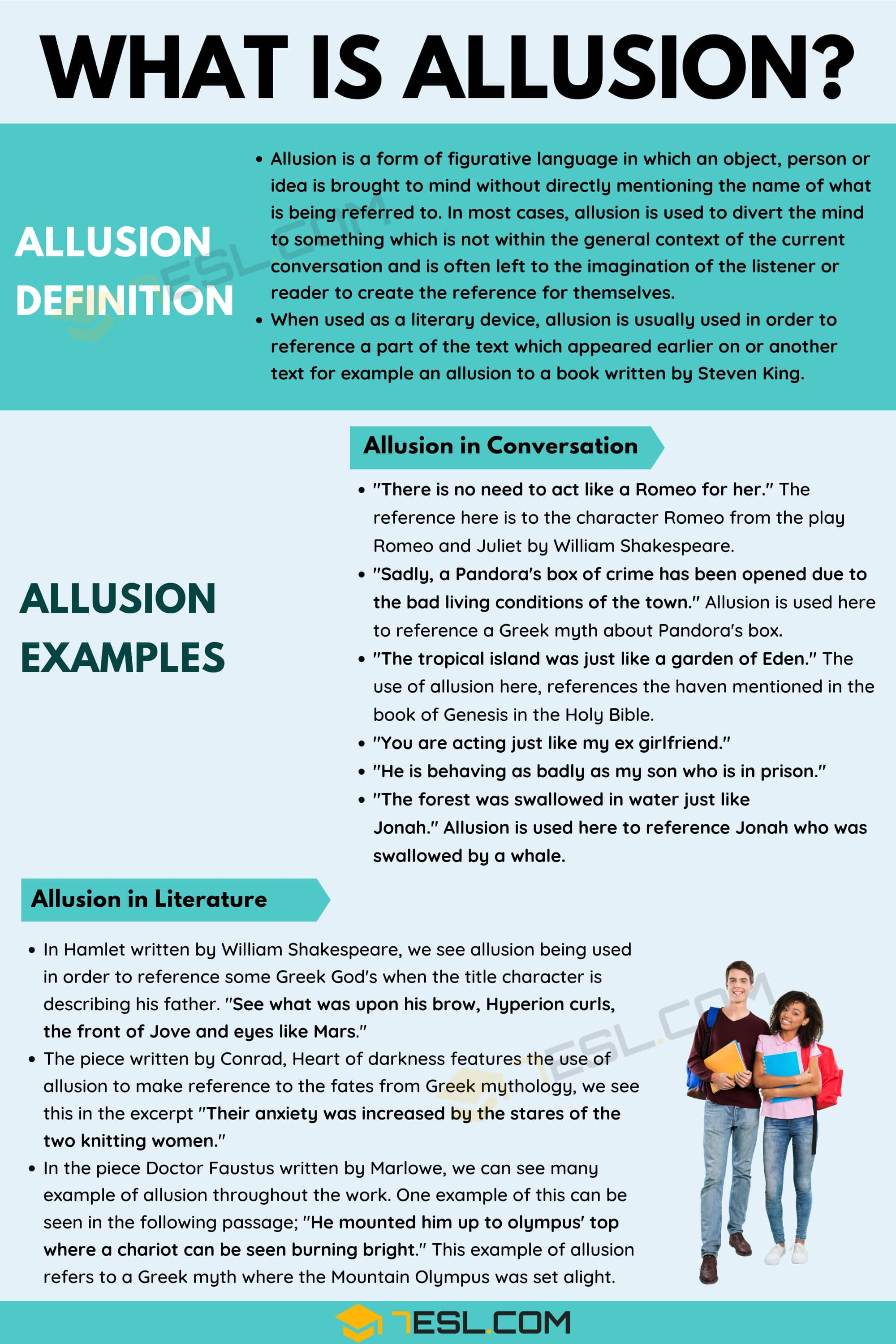 allusion  definition and examples of allusion in