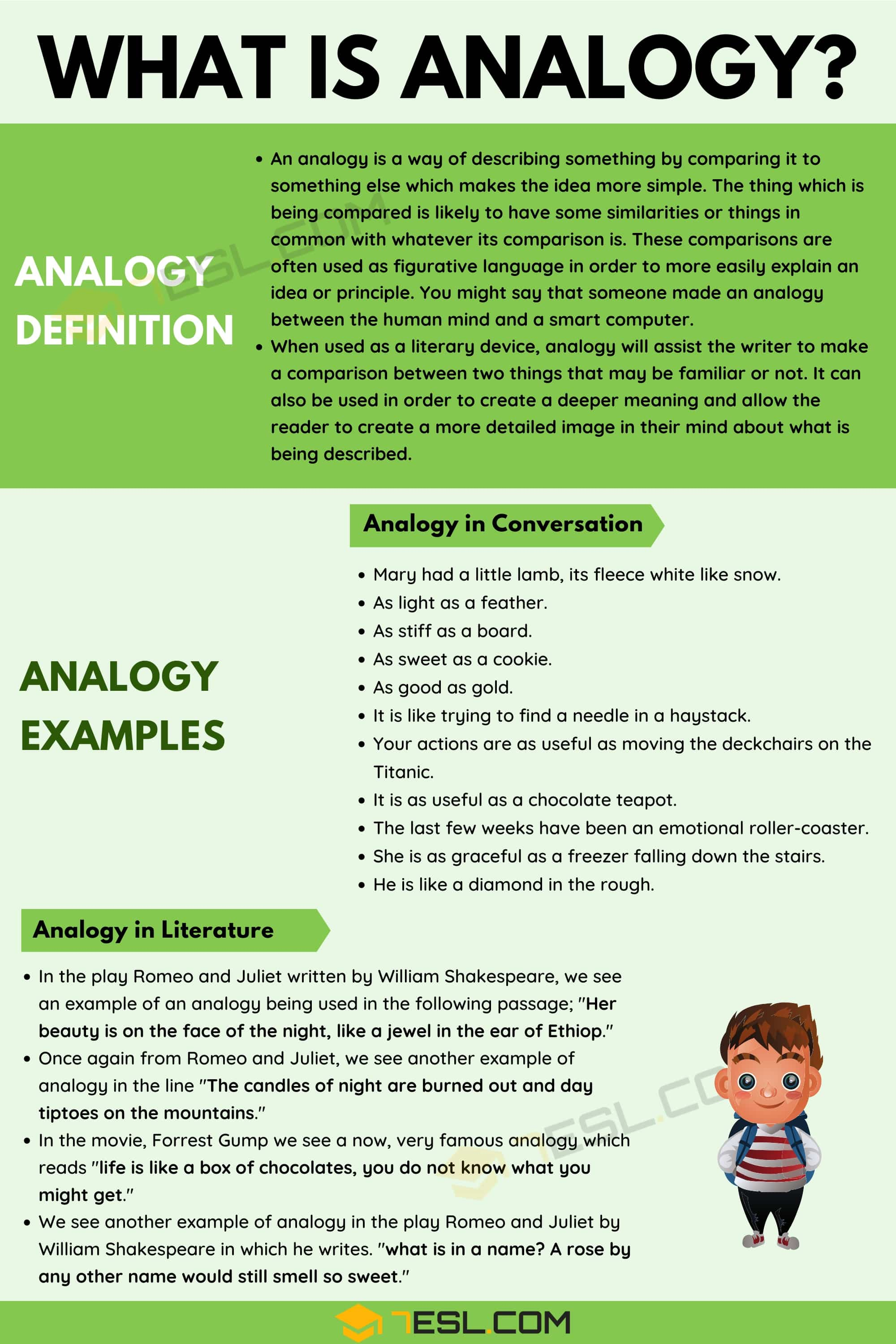 analogy  definition and examples of analogy in