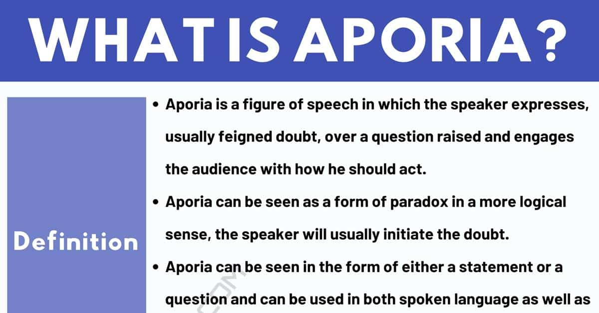 Aporia: Definition and Examples of Aporia in Speech and Literature 1