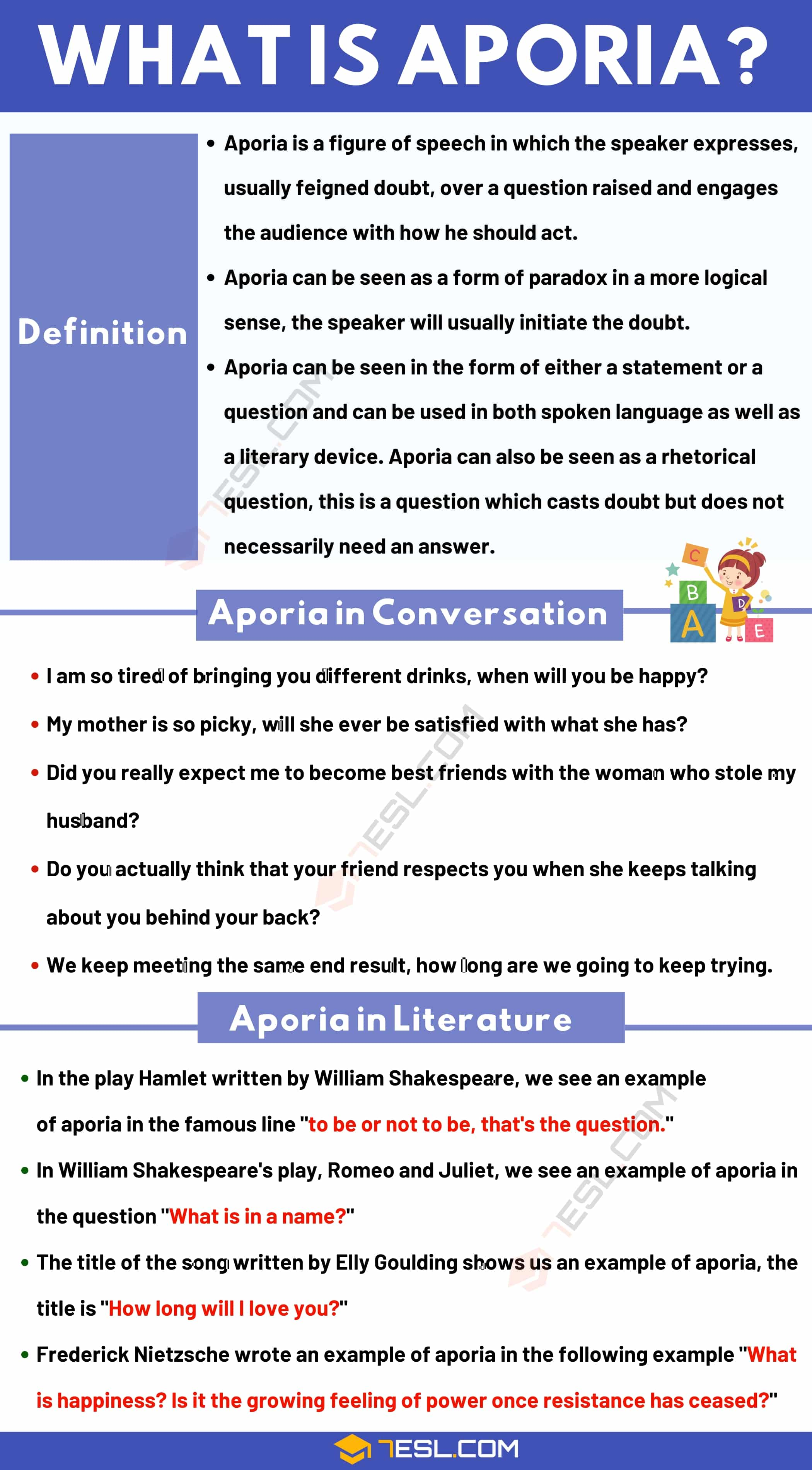 Aporia: Definition and Examples of Aporia in Speech and Literature