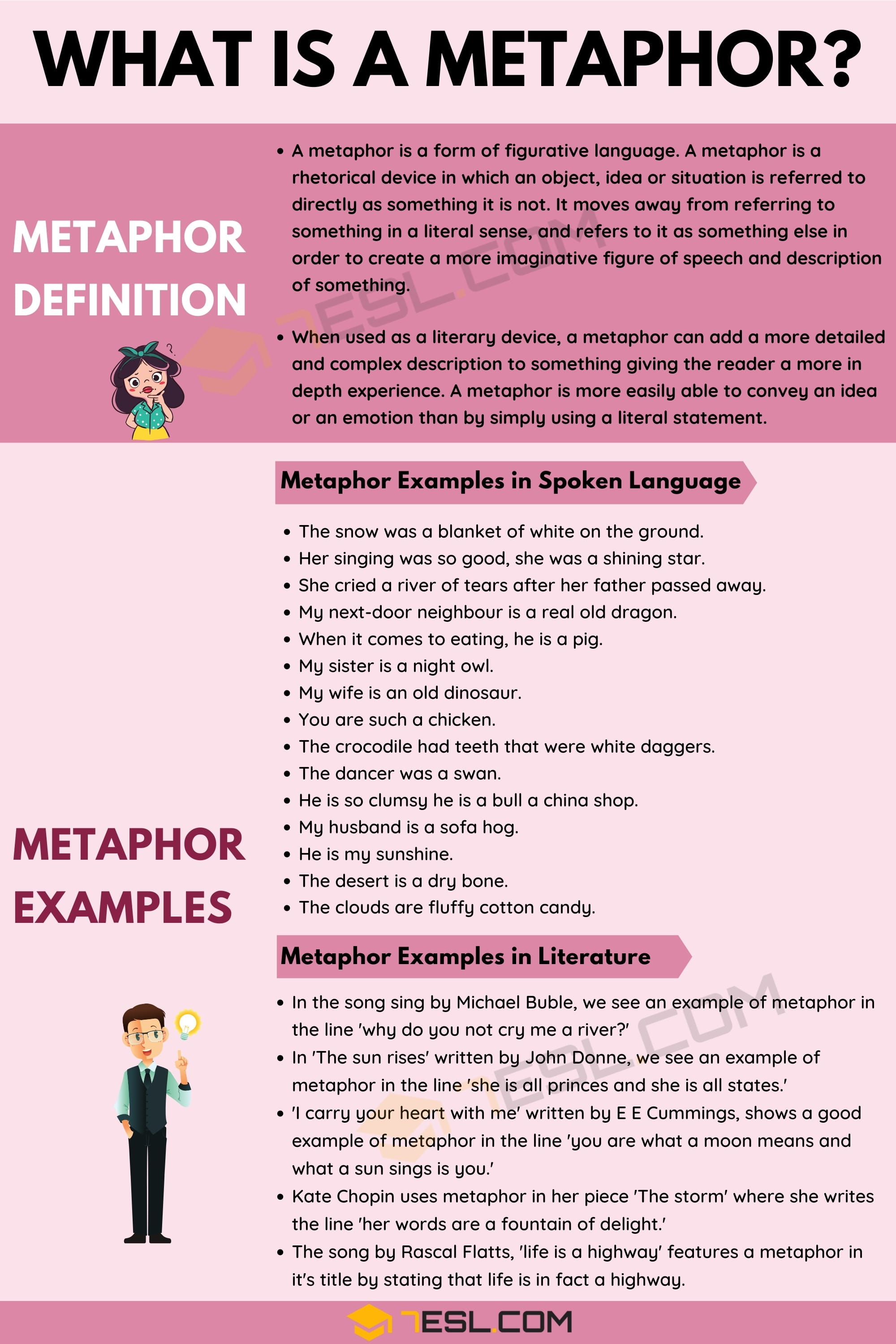 Metaphor: Definition and Examples of Metaphor in Spoken Language & Literature 1