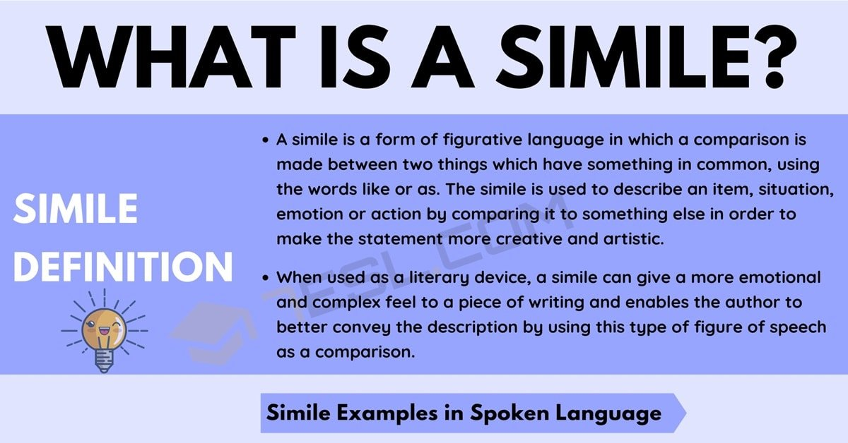 Simile: Definition and Examples of Simile in Spoken Language and Literature 1