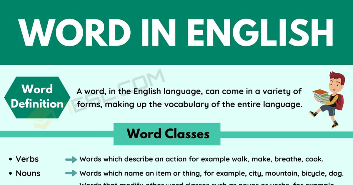English Words List | Word Classes | Word Forms | Vocabulary Words 1
