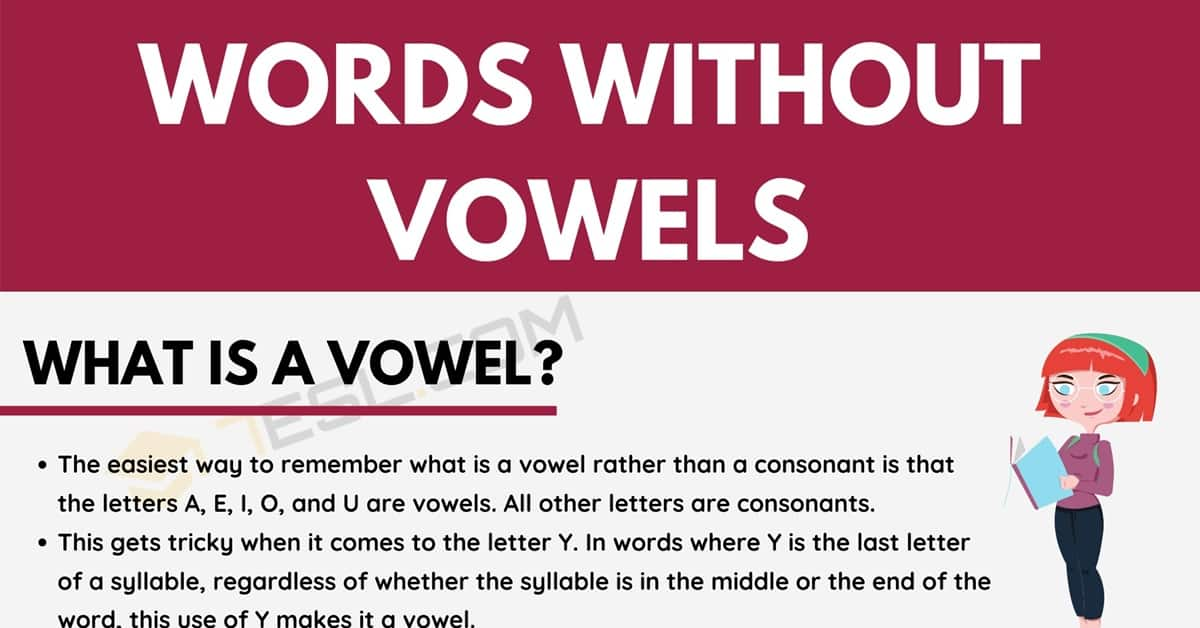 Words Without Vowels in English for ESL Learners 1