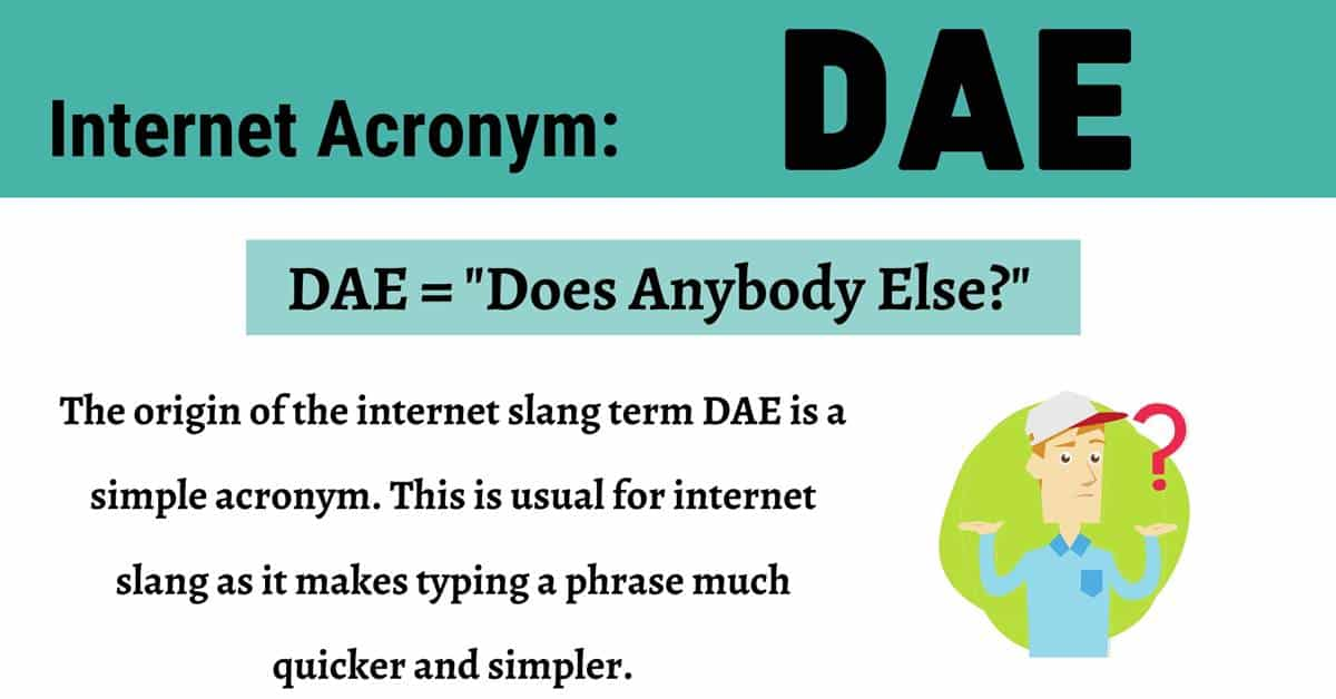 "DAE Meaning: What Does this Useful Term ""DAE"" Stand For? 1"