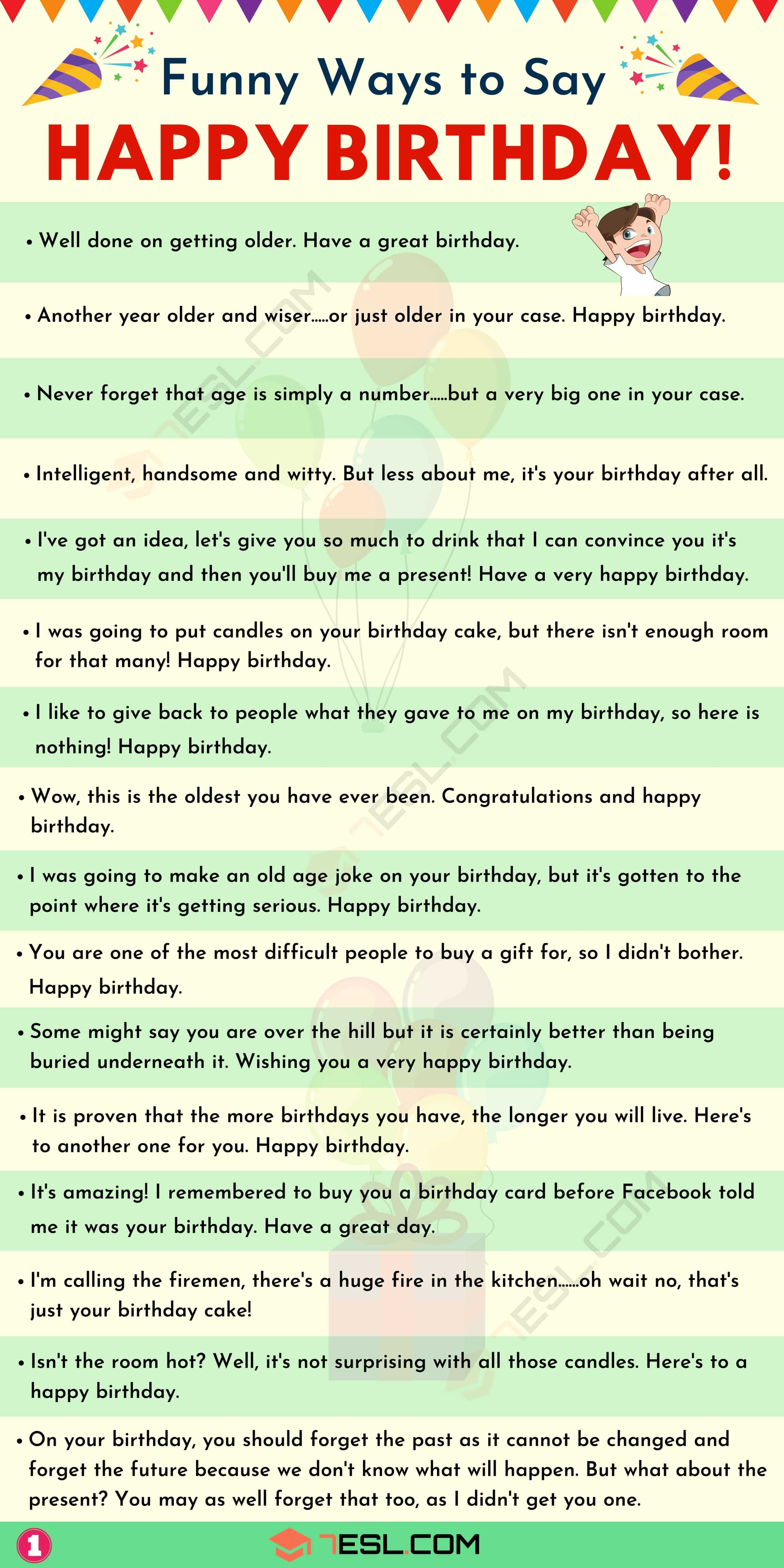 List of funny birthday wishes