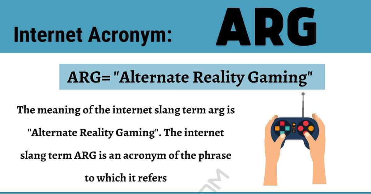 """ARG Meaning: How Do You Define the Acronym """"ARG""""? 1"""