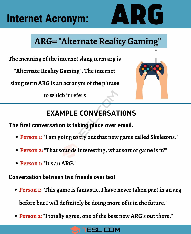 """ARG Meaning: How Do You Define the Acronym """"ARG""""?"""