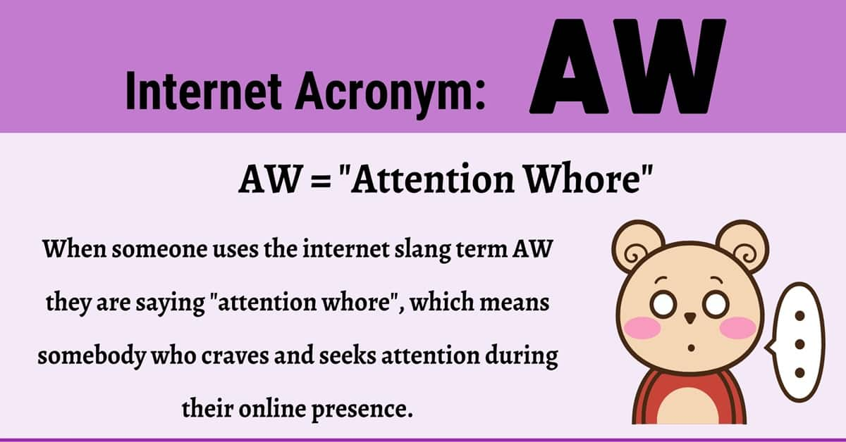 AW Meaning: What Does this Acronym Mean and Stand For? 1