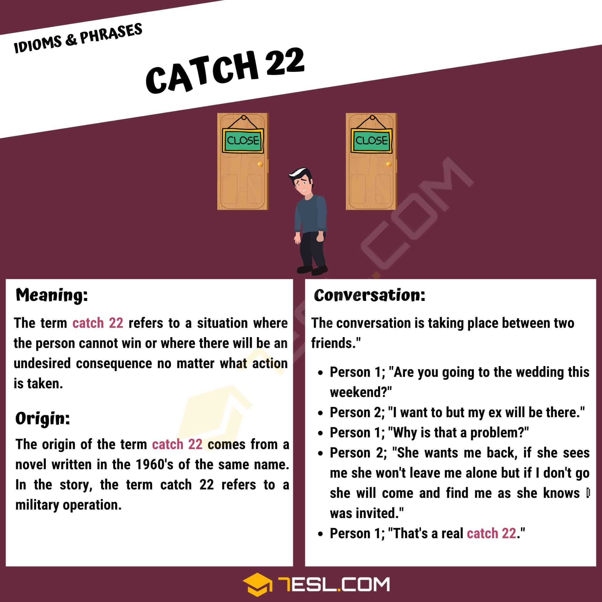 """Catch 22: What Does The Interesting Term """"Catch 22"""" Mean? - 7 E S L"""