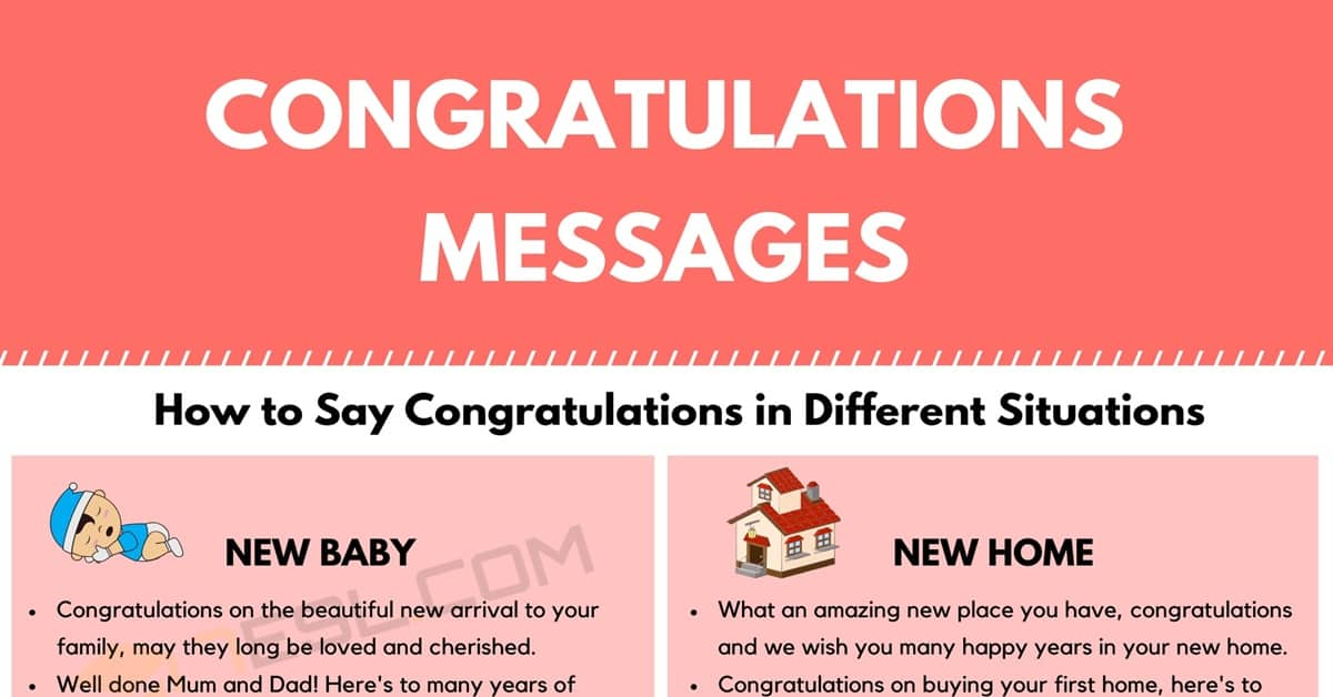 Congratulations: How to Say Congratulations in Different Situations 1