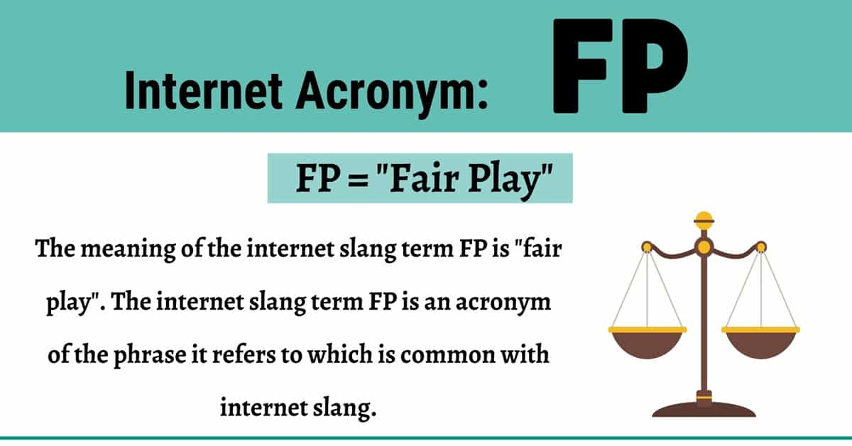 FP Meaning: What Does this Common Term Mean and Stand For? 1