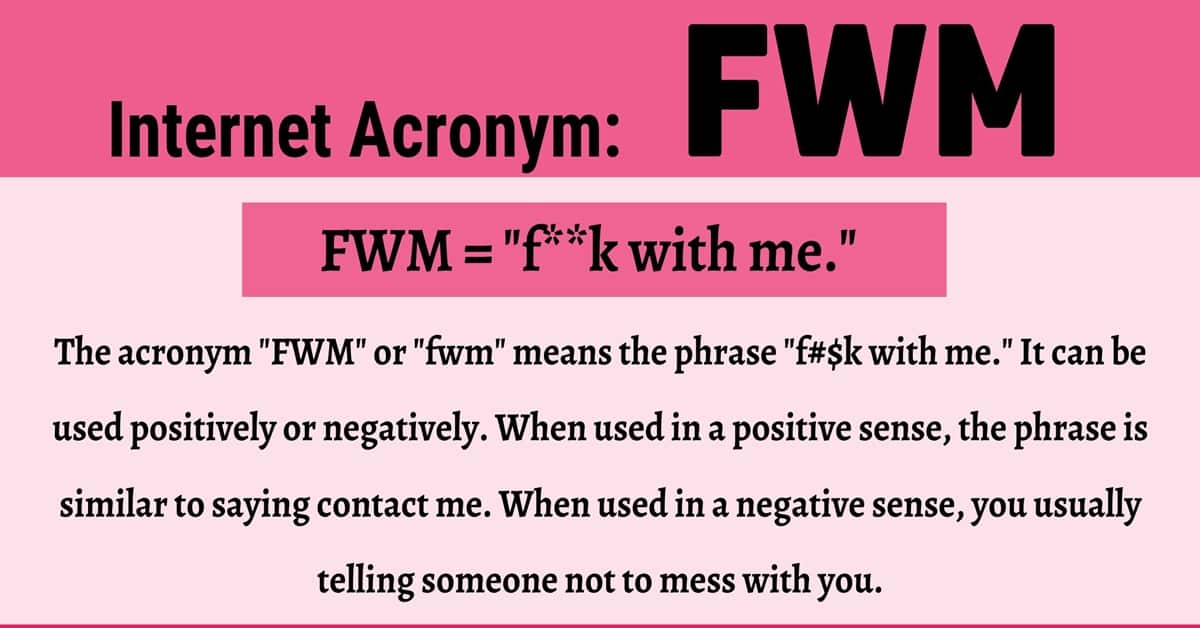 """FWM Meaning: How Do You Define the Texting Abbreviation """"FWM""""? 1"""