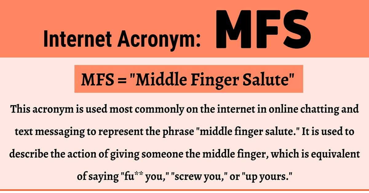 MFS Meaning: What in the World Does this Term Mean and Stand For? 1