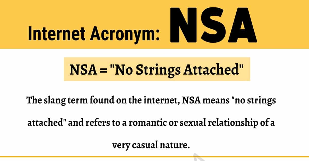 NSA Meaning: What Does this Term Mean and Stand For? 1