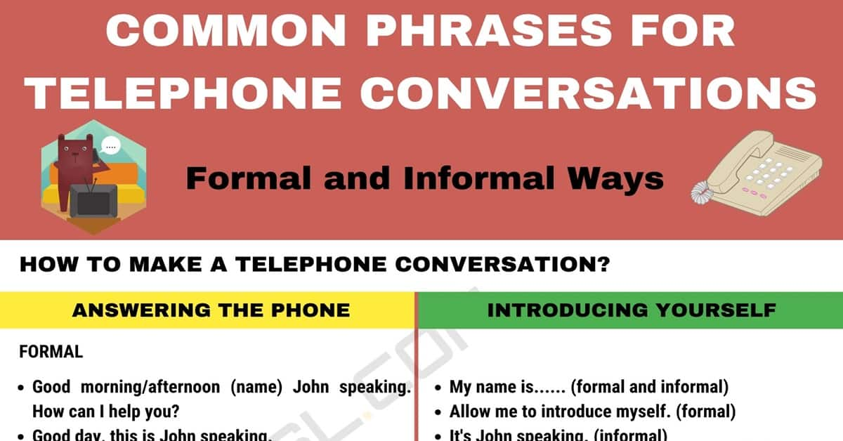 Phrases For Telephone Conversations