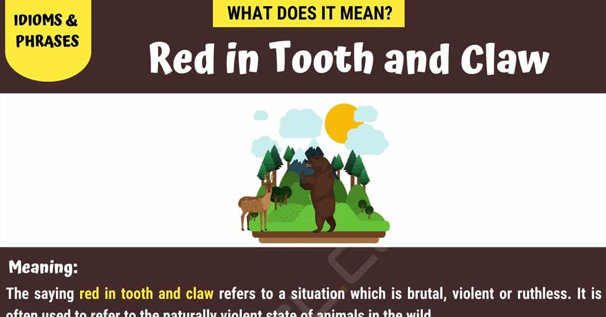 Red in Tooth and Claw