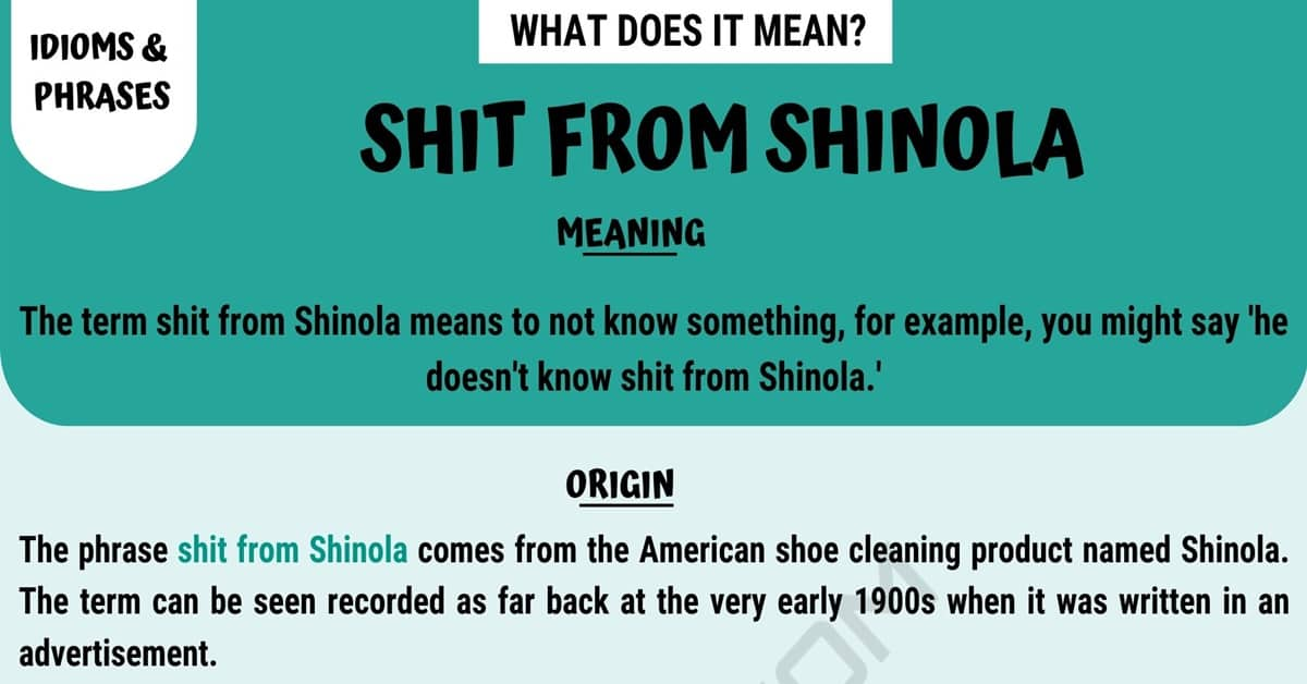 Shit from Shinola