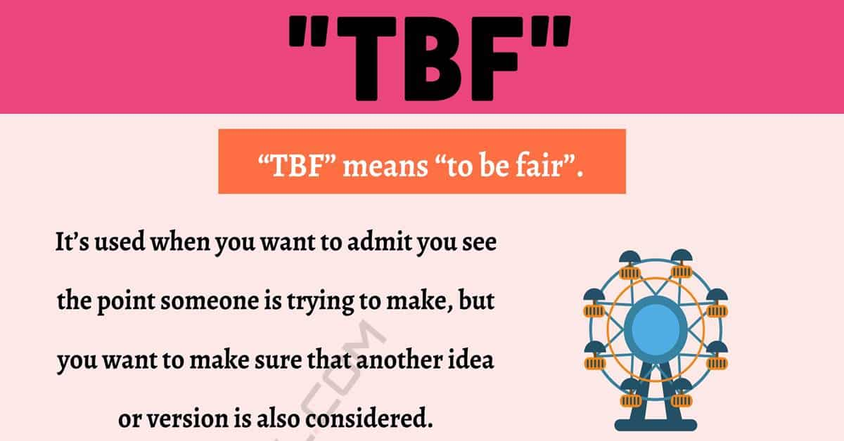 """""""TBF"""" Meaning 