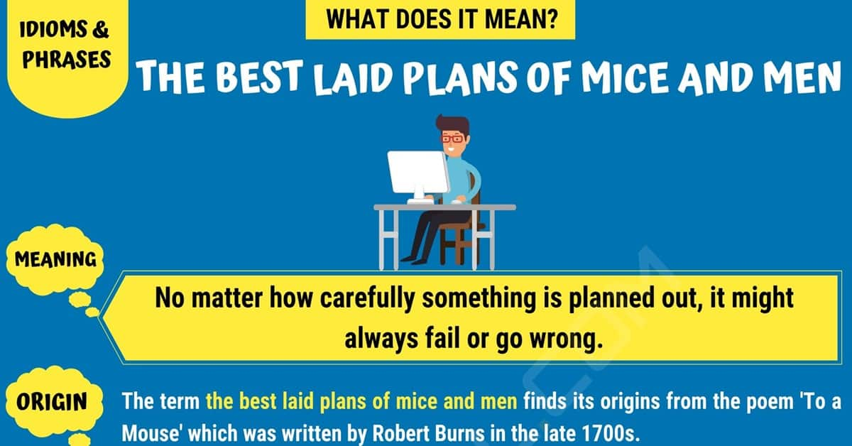 The Best Laid Plans of Mice and Men