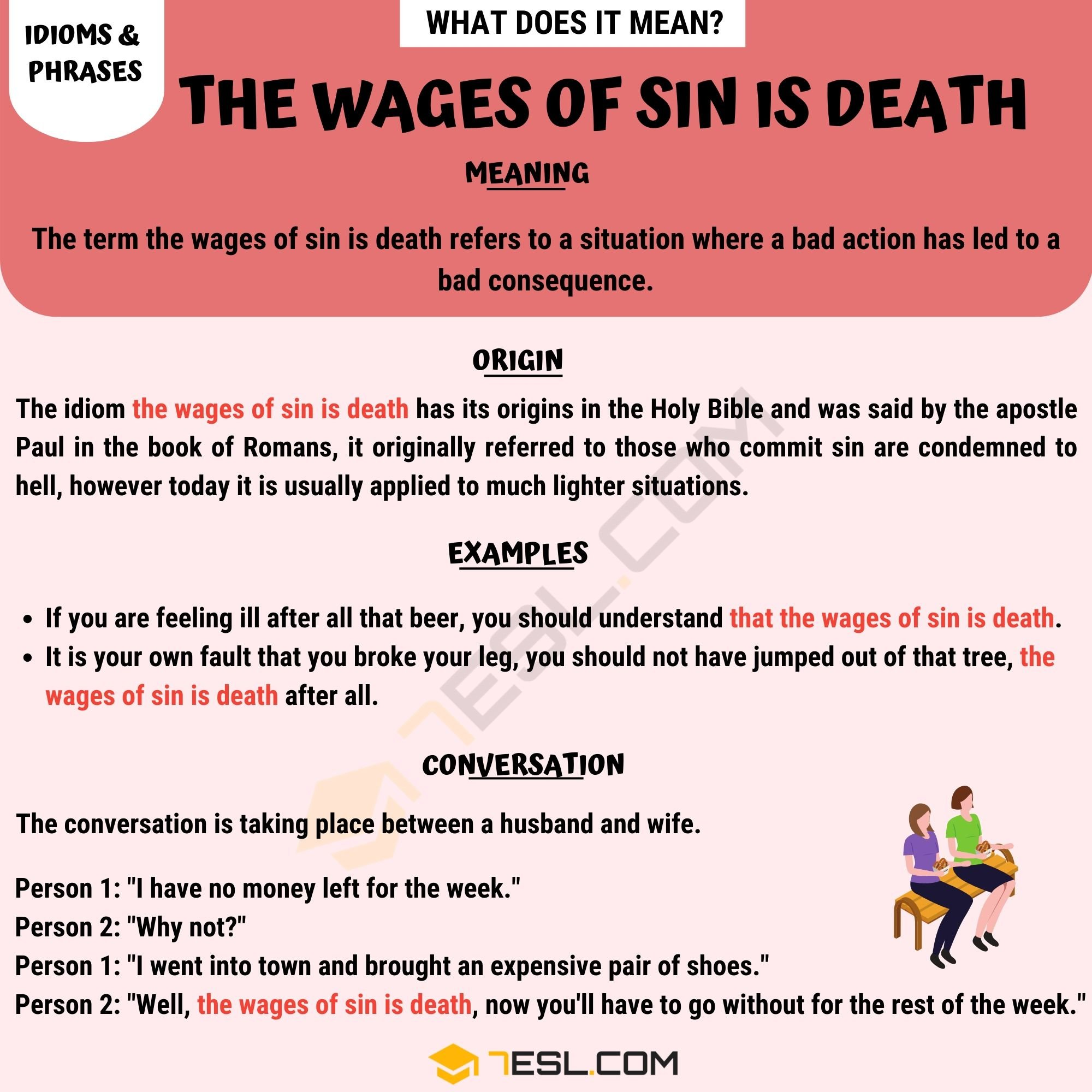The Wages of Sin Is Death