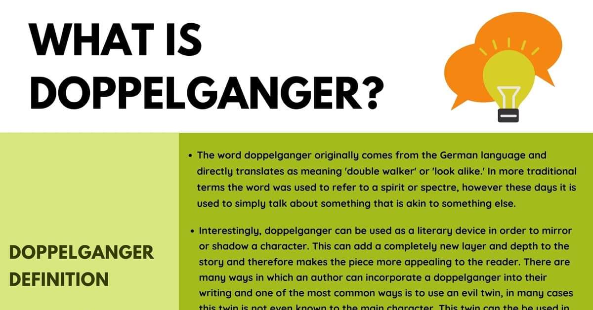 Doppelganger: Definition, Useful Examples in Speech and Literature 1