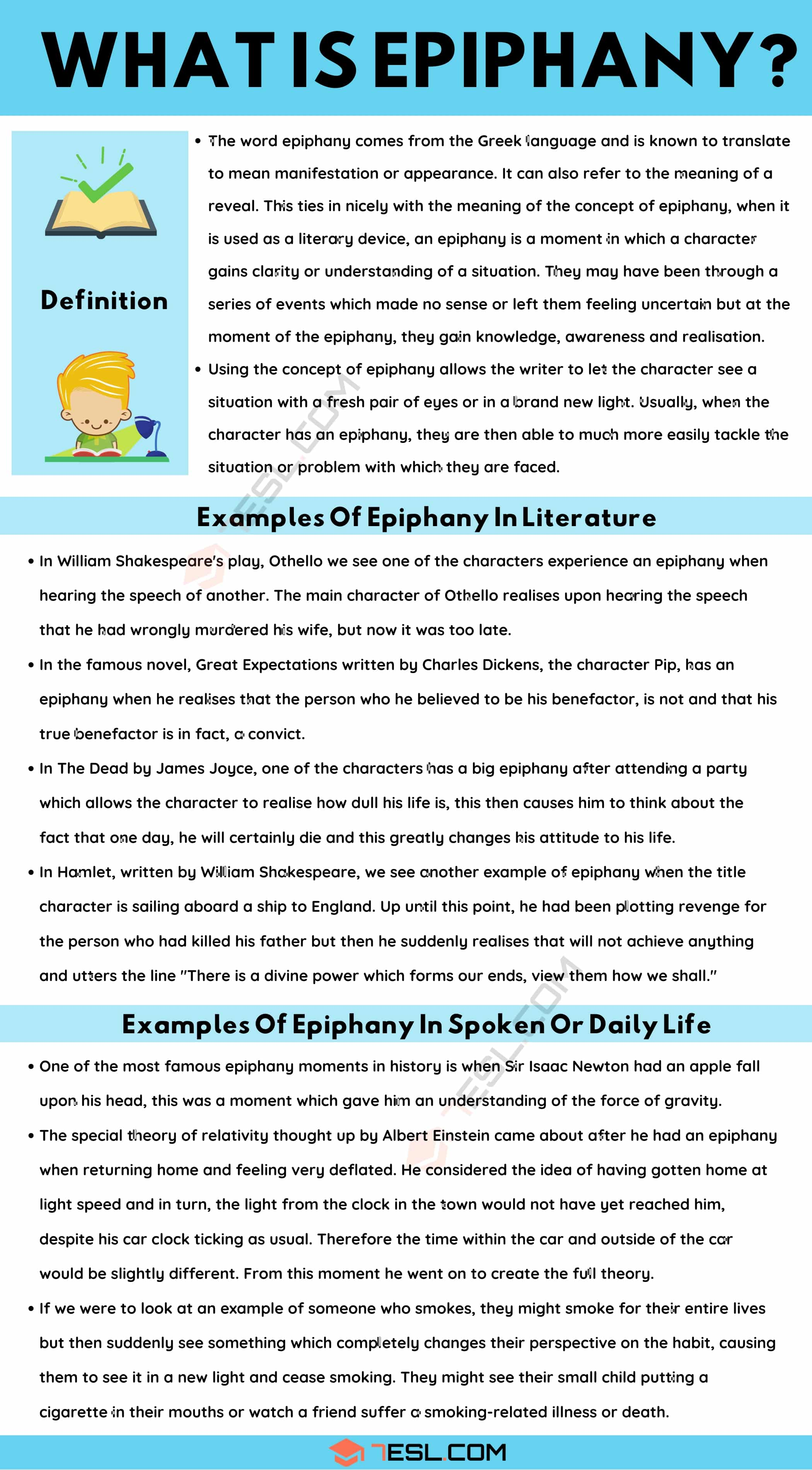 Epiphany: Definition and Great Examples of Epiphany in Spoken Language and Literature