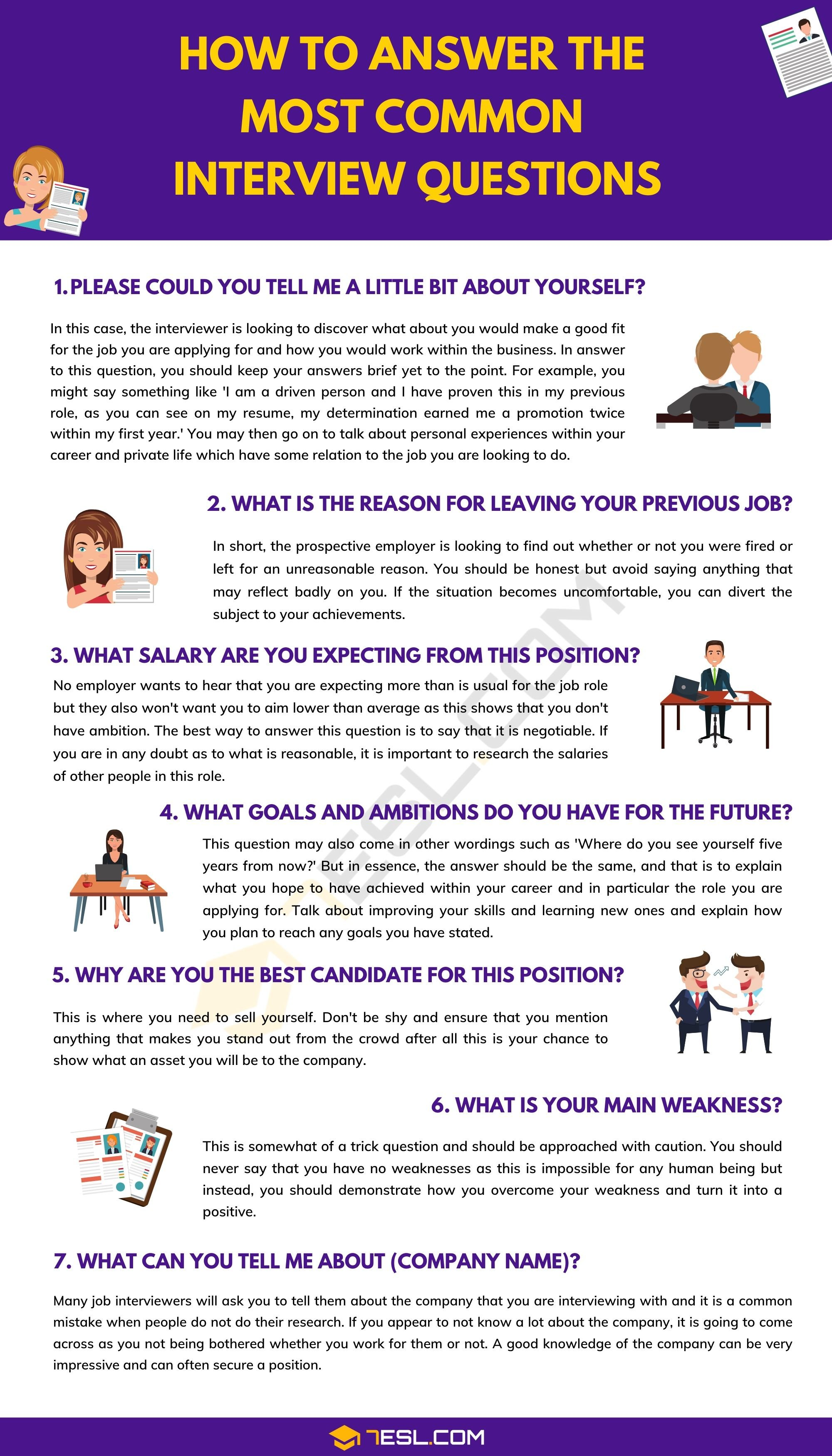 How To Answer The Most Common Interview Questions With ...