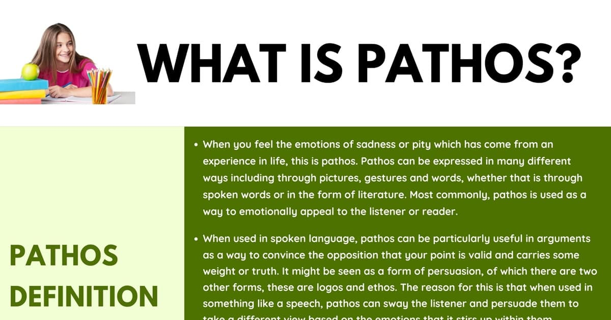 Pathos: Definition, Examples of Pathos in Spoken Language and Literature 1