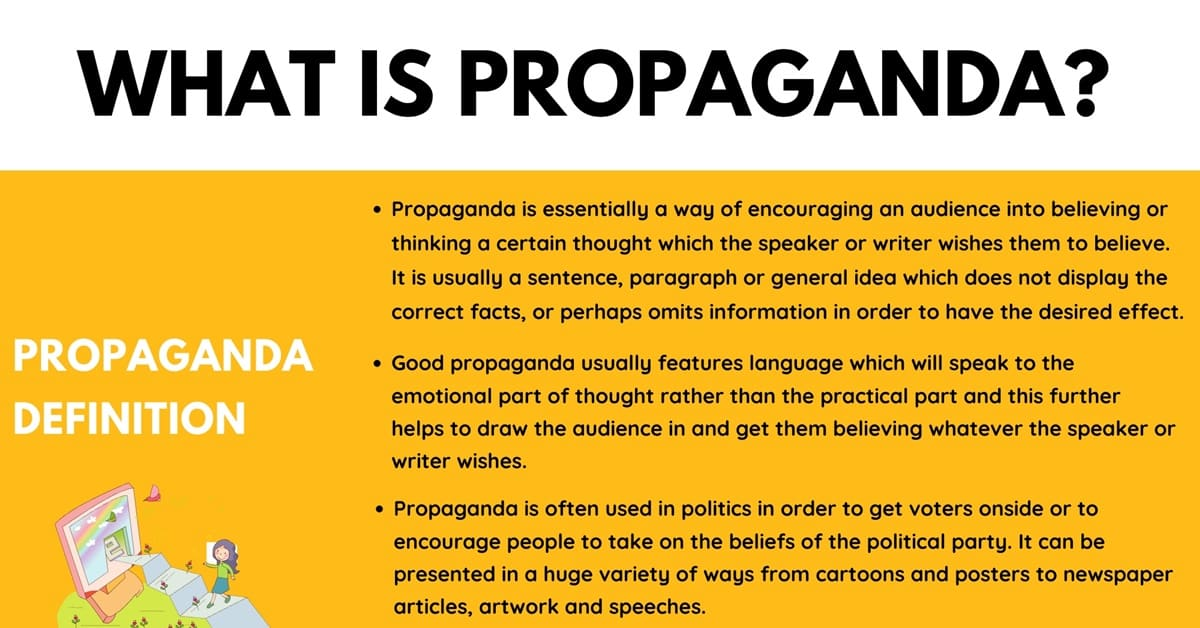 Propaganda: Definition and Useful Examples in Spoken & Written Language 1