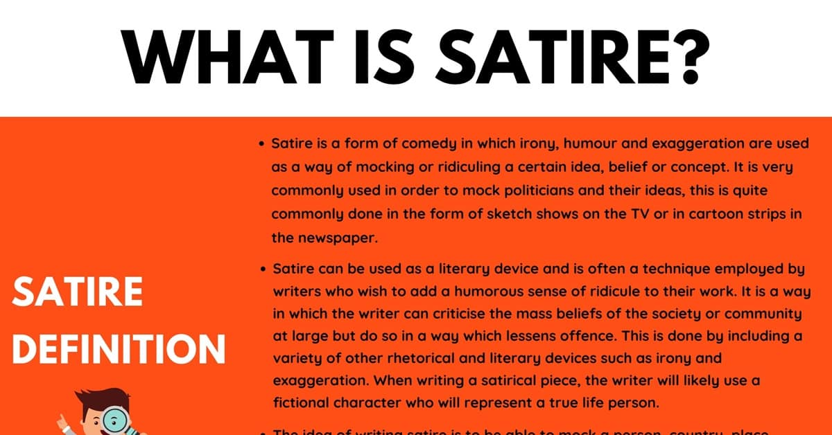 Satire: Definition and Examples of Satire in Conversation & Literature 1