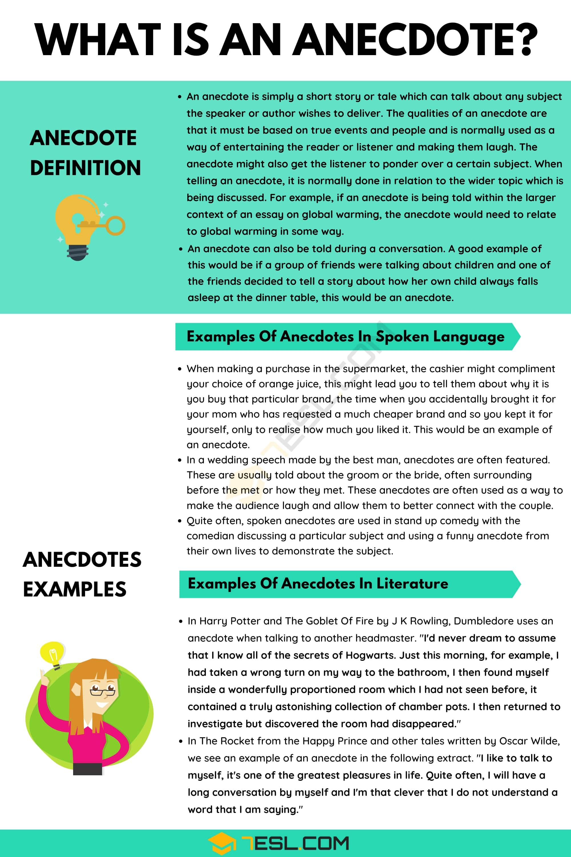 Anecdote: Definition and Useful Examples of Anecdote in the English Language