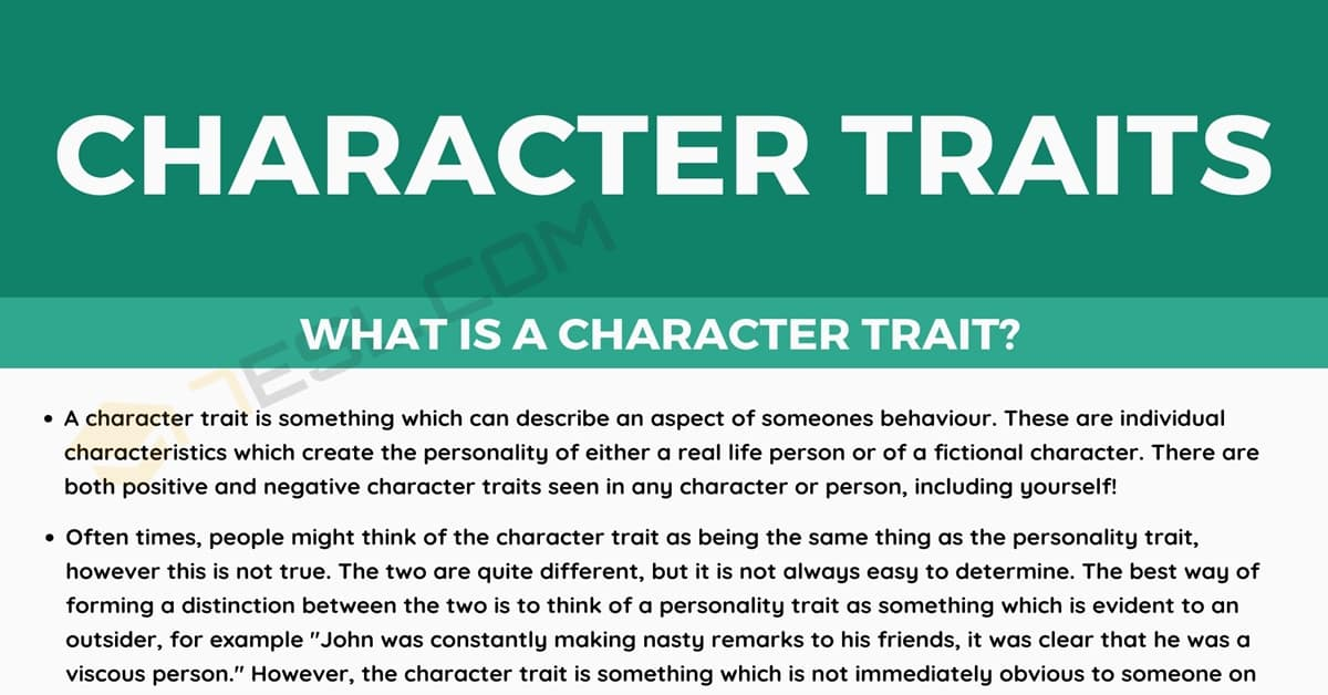 Character Traits: Examples and List of Positive & Negative Character Traits 1