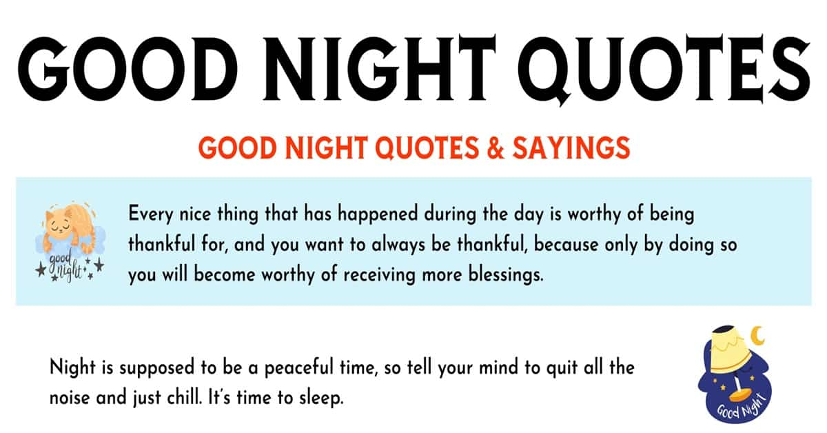 20 Sweet Good Night Quotes and Messages to Send to Friends and Others 1